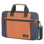 Samsonite - Sideways laptoptas 16 inch, blauw/oranje