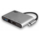 Act - USB 3.1 type C > HDMI (4K), Ethernet en USB type A dock