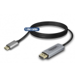 Act - USB 3.1 type C male naar Displayport 4K @ 60Hz male kabel 1,8 meter
